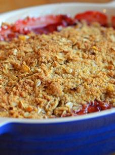 how to make rhubarb crisp