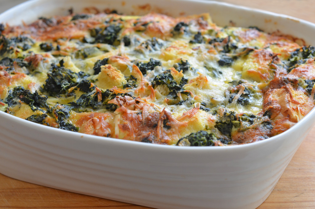 spinach cheese strata once upon a chef - Strata Egg Dish