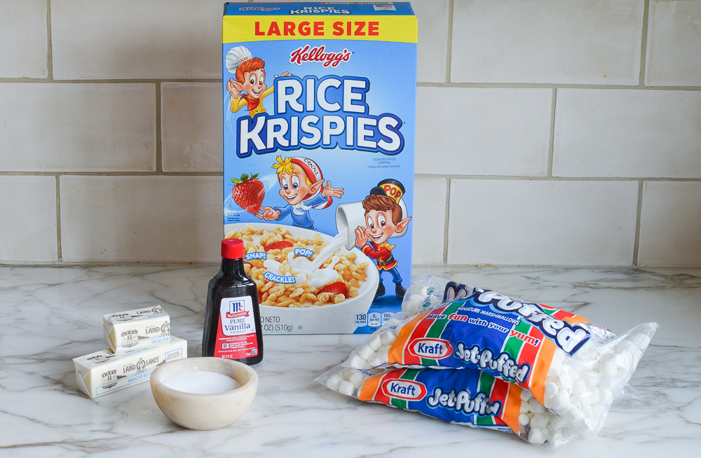 ingredients for rice krispies treats