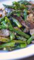 wild mushrooms roasted asparagus