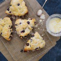 Blueberry Scones with Tart Lemon Glaze