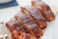 Cedar Plank Salmon with Ancho Brown Sugar Spice Rub
