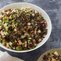 Wild Rice Salad with Cranberries, Pecans & Pepitas