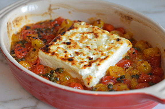 Broiled-Feta-with-Cherry-Tomatoes-and-Capers-1