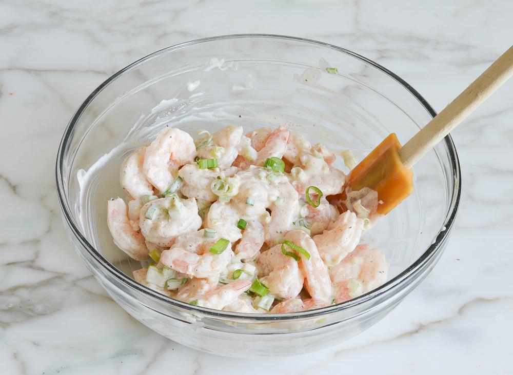 tossed shrimp salad