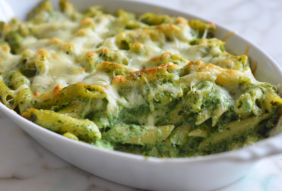 baked-penne-spinach-ricotta-fontina-3