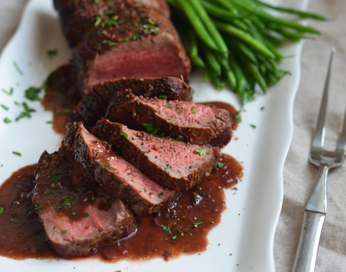 roast beef tenderloin with red wine sauce once upon a chef