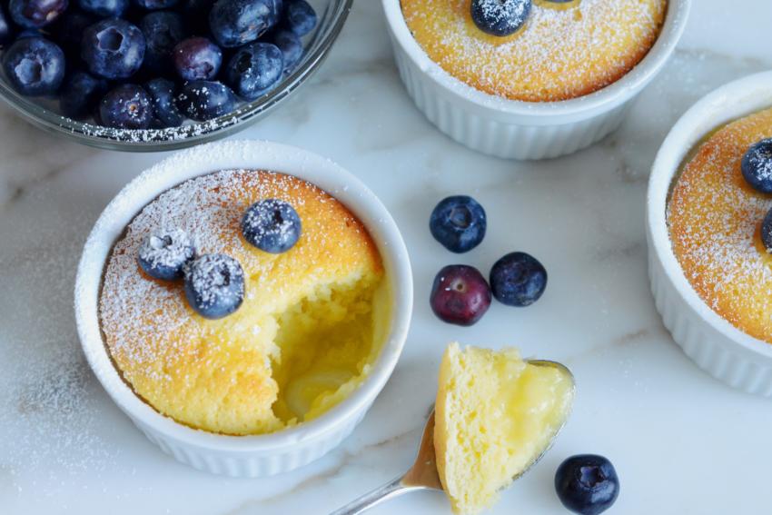 Лимонный кекс пудинг