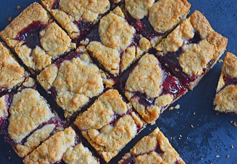 raspberry jam bars