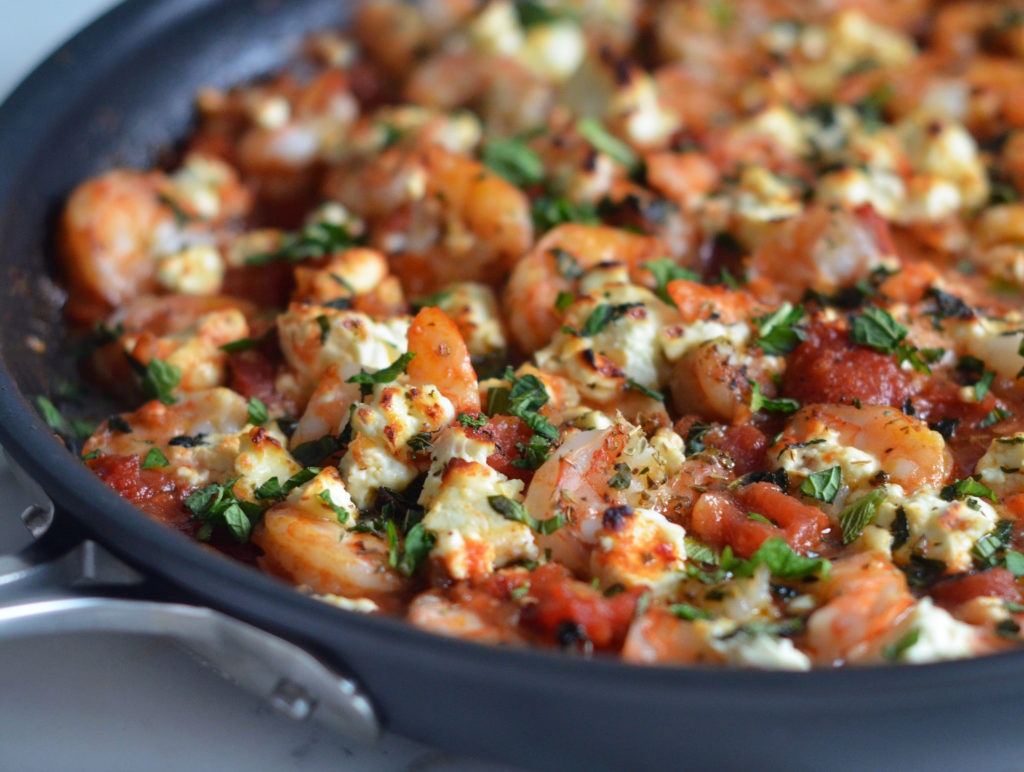 Greek Shrimp with Tomatoes & Feta - Once Upon a Chef