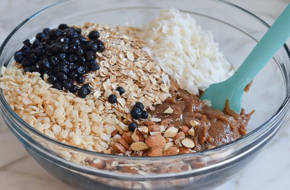 Almond Date Blueberry Granola Bars-5