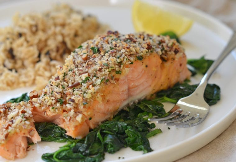 1da0258d939c Baked Salmon with Honey Mustard and Pecan-Panko Crust - Once Upon a Chef