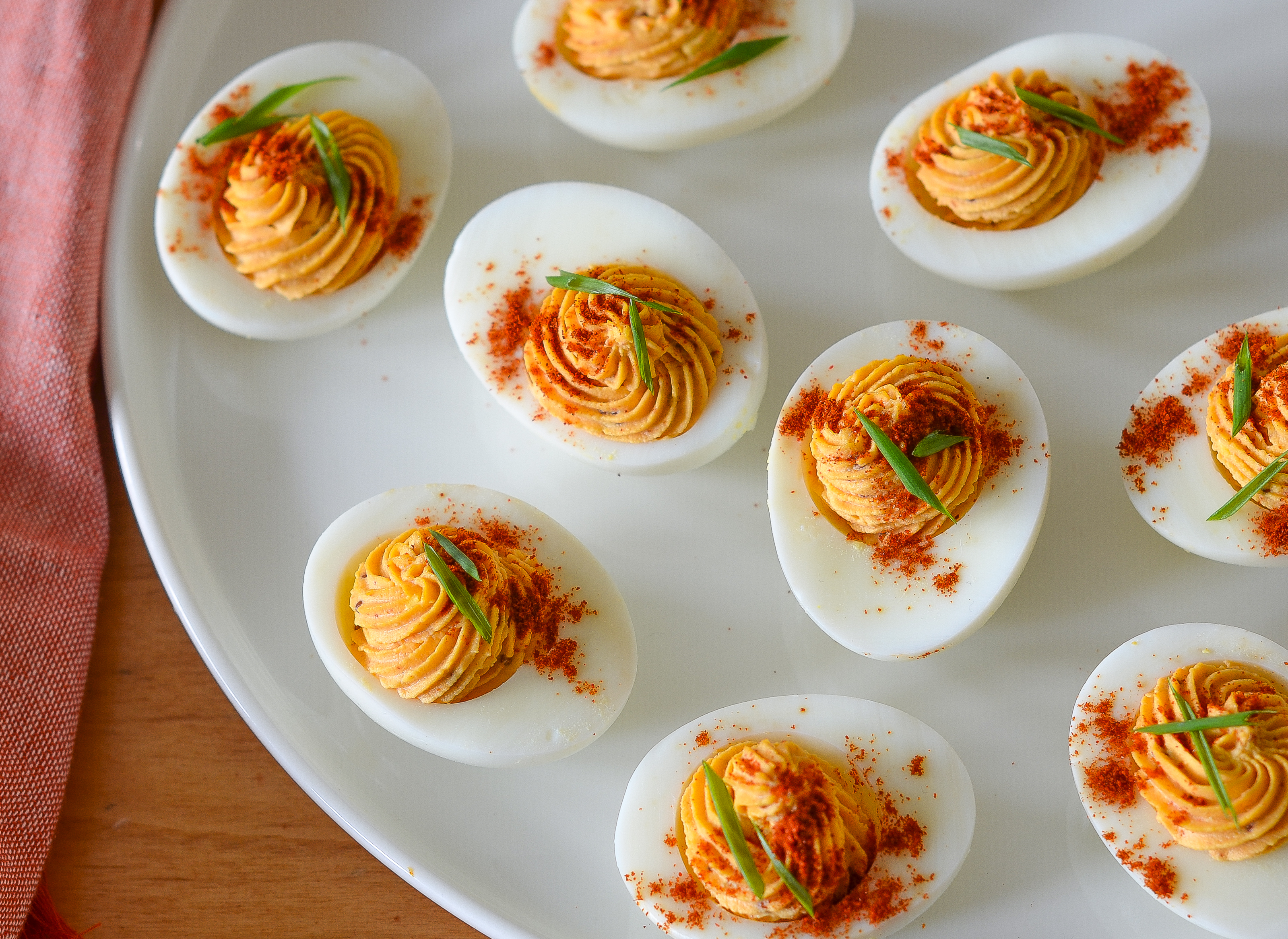 Sriracha Deviled Eggs Once Upon A Chef