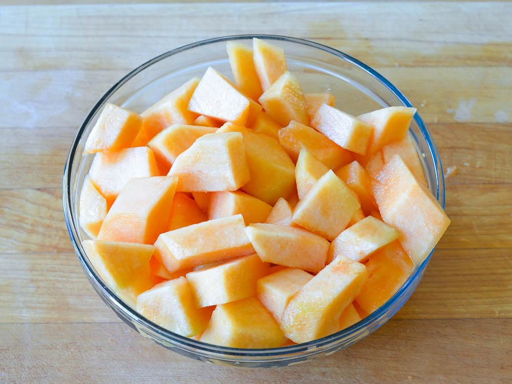 melon in bowl