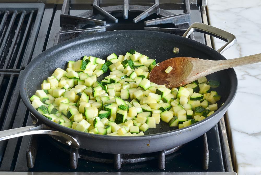 cooked zucchini ratatouille