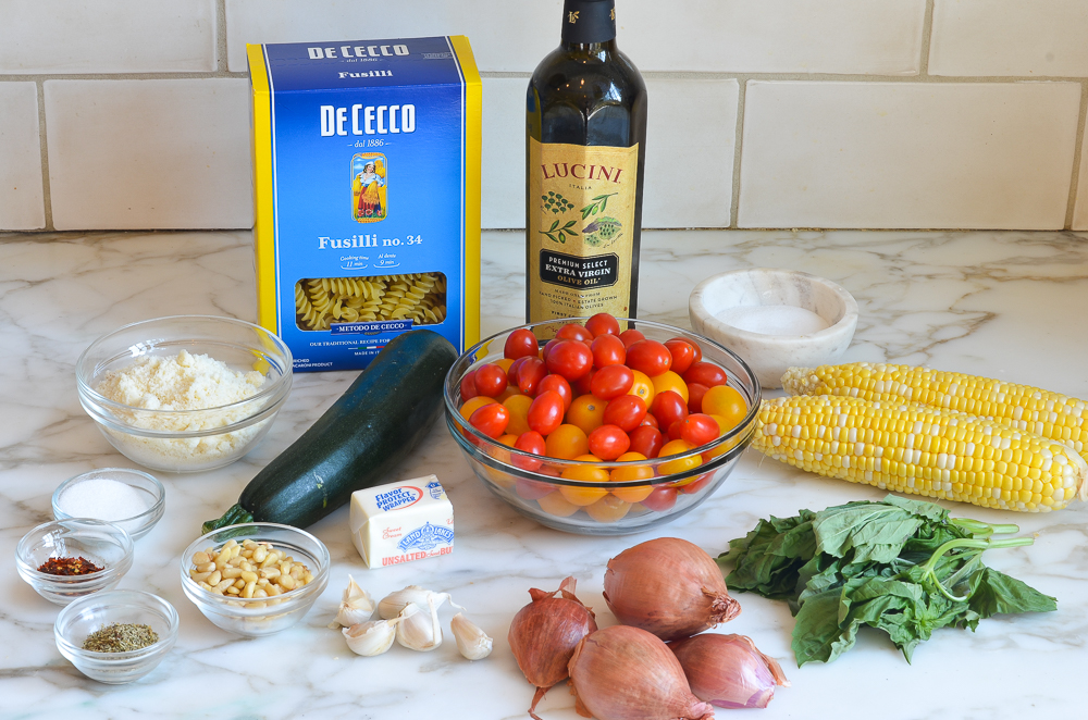 how to make pasta with roasted summer vegetables