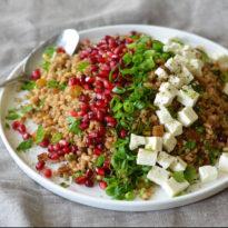 Egyptian Barley Salad with Pomegranate Vinaigrette