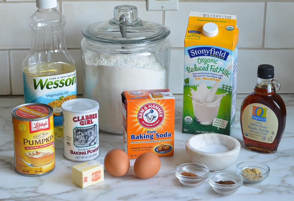 ingredients for pumpkin pancakes