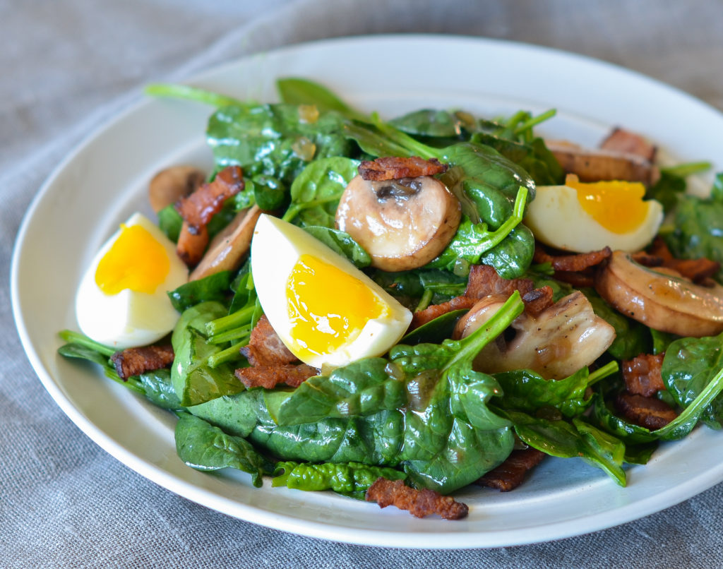 Spinach Salad With Warm Bacon Dressing Once Upon A Chef