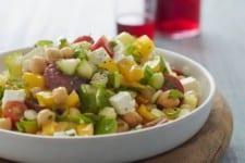 Middle Eastern Chopped Salad with Lemon Vinaigrette