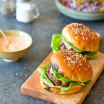 Korean-Style Beef Bulgogi Burgers