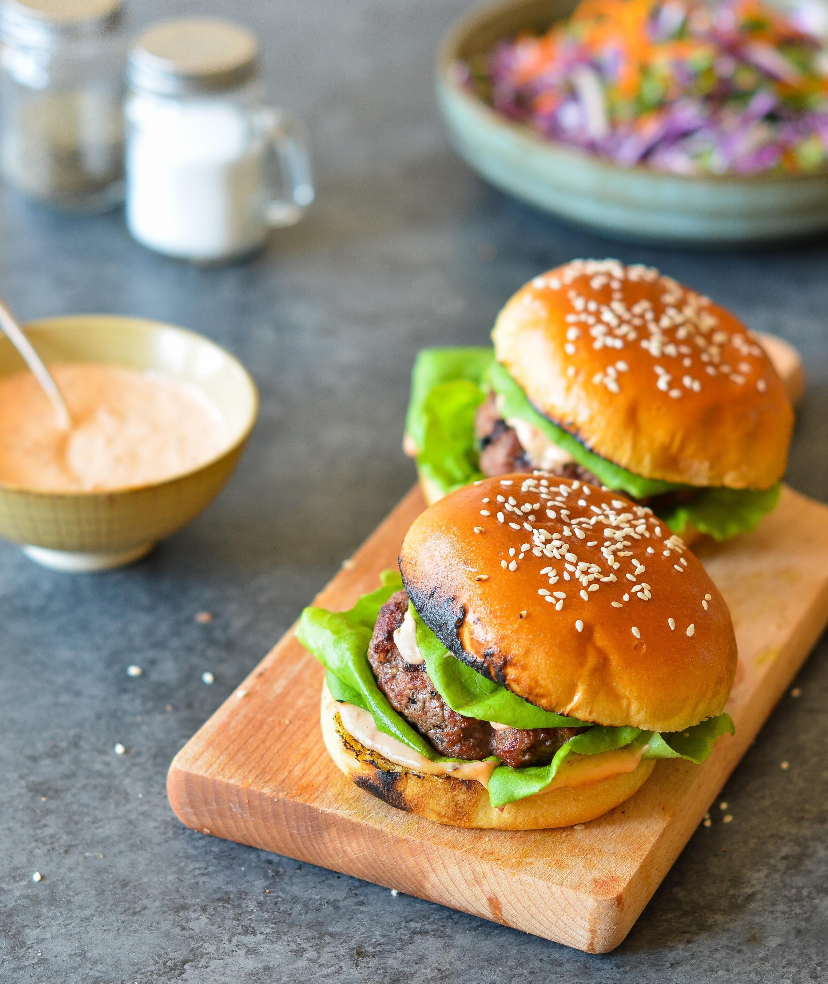 Korean Style Beef Bulgogi Burgers Once Upon A Chef