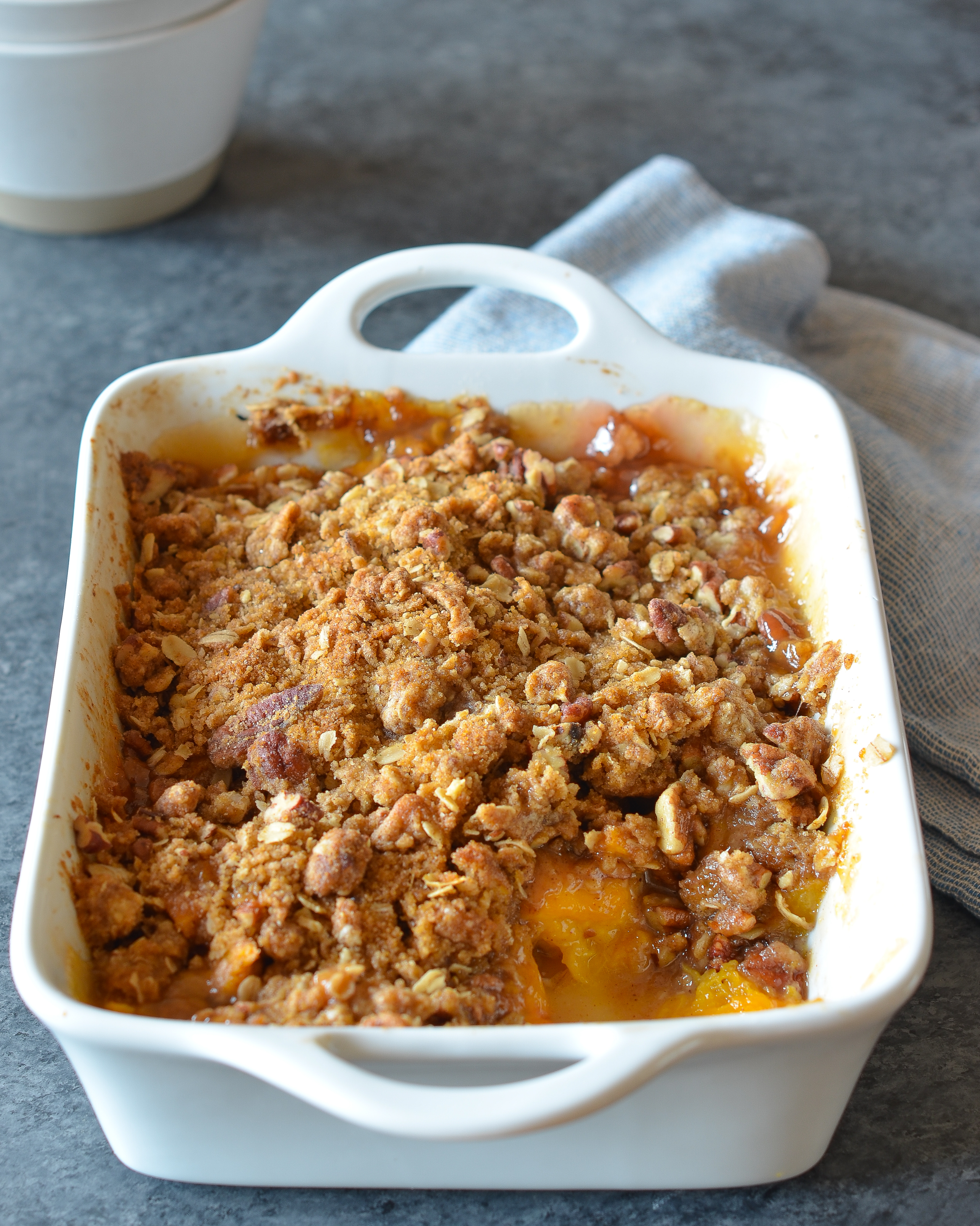 Peach Crisp Once Upon A Chef