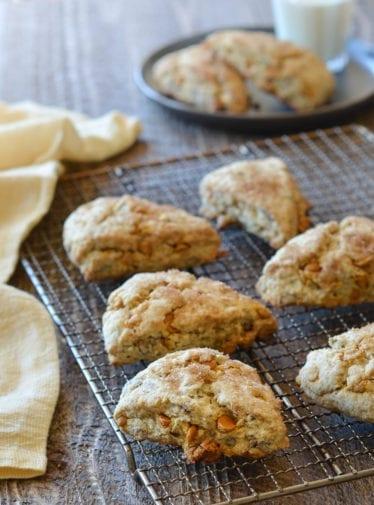 Butterscotch Pecan Scones