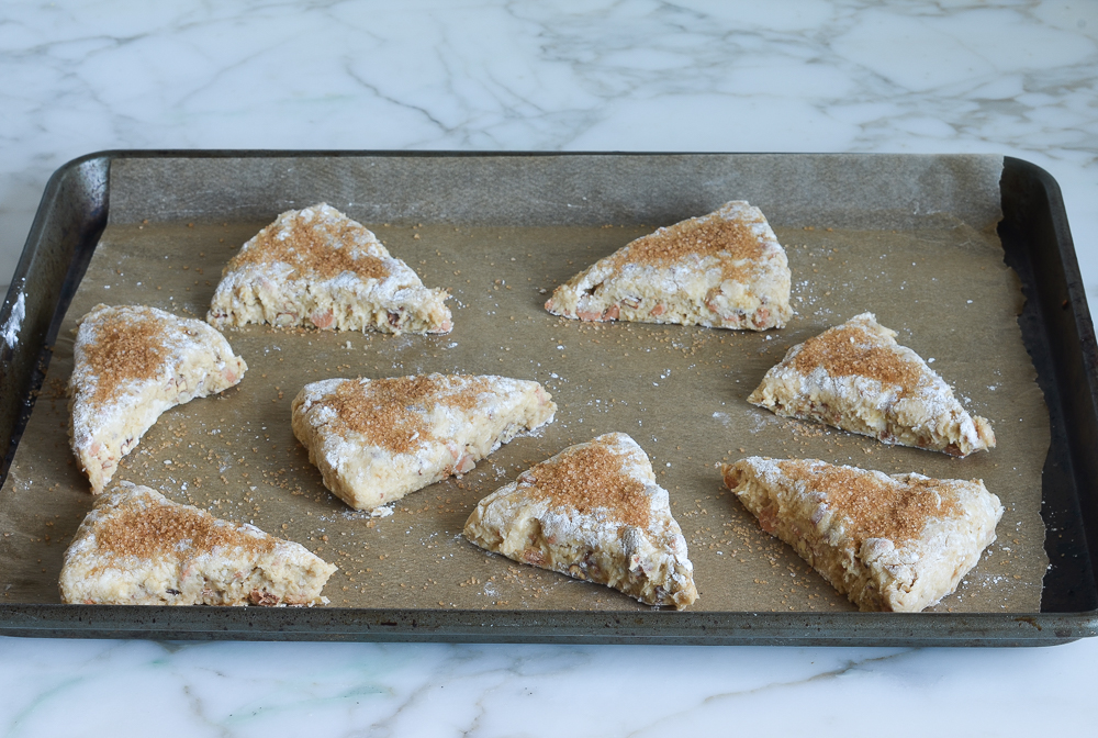 how to make butterscotch pecan scones