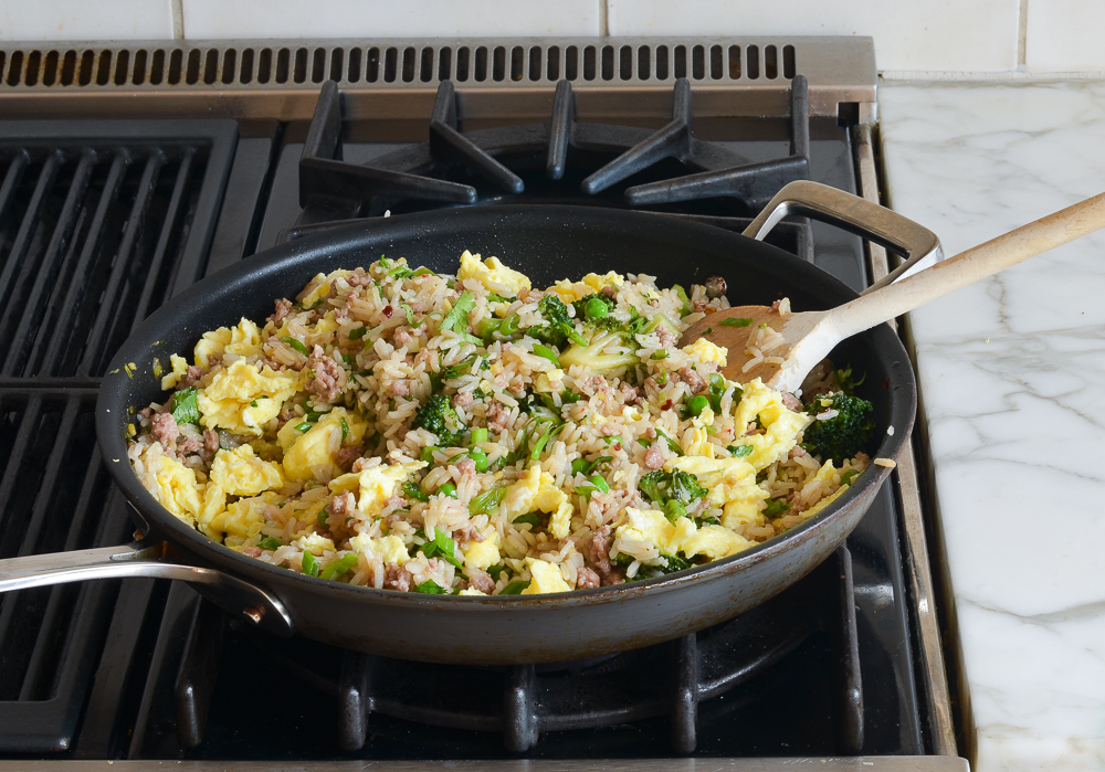 how to make pork fried rice