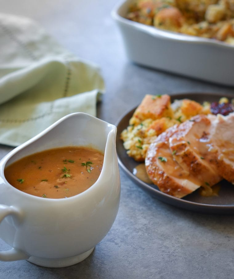 Easy Roast Turkey with Gravy