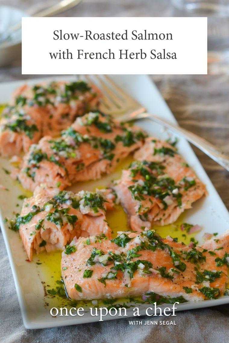 slow roasted salmon