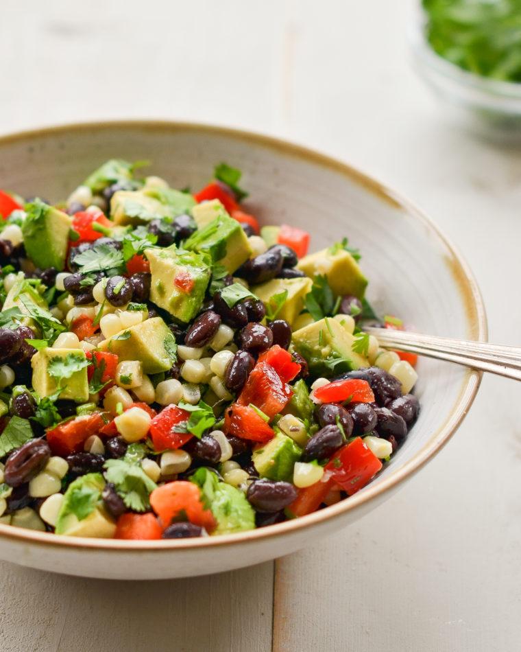 Black Bean Salad with Corn, Avocado & Lime Vinaigrette