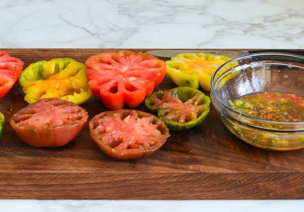 seeding tomatoes