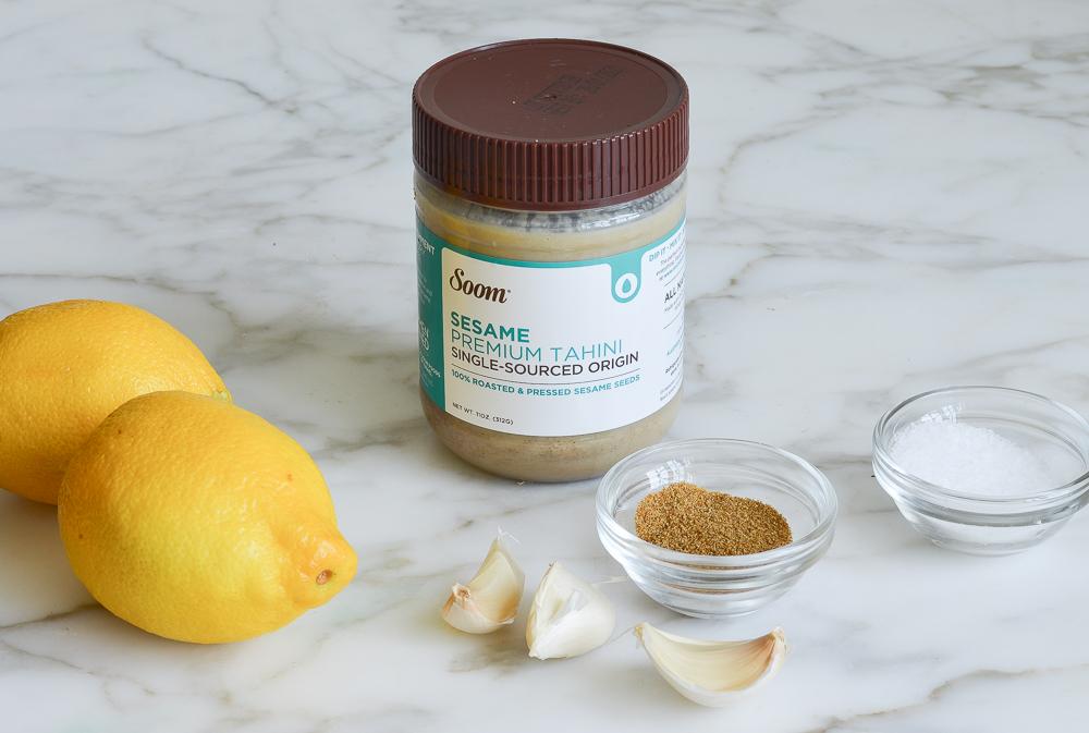 ingredients for tahini sauce