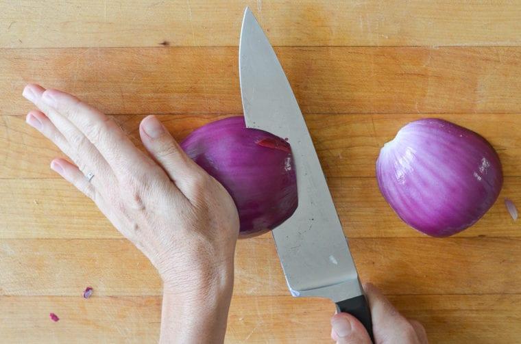 making horizontal slices