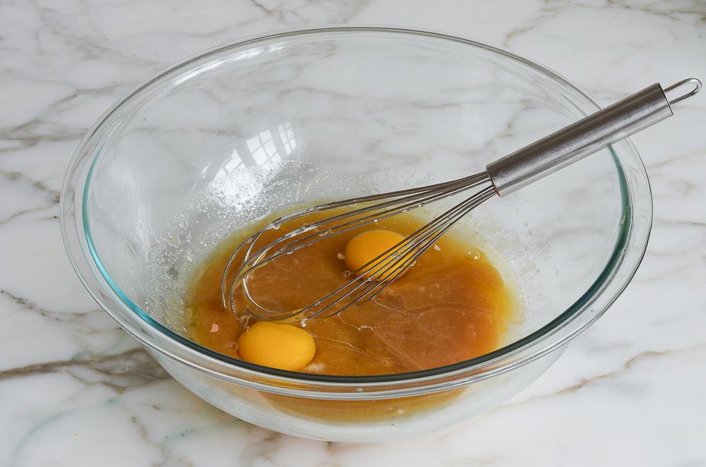 whisking in eggs