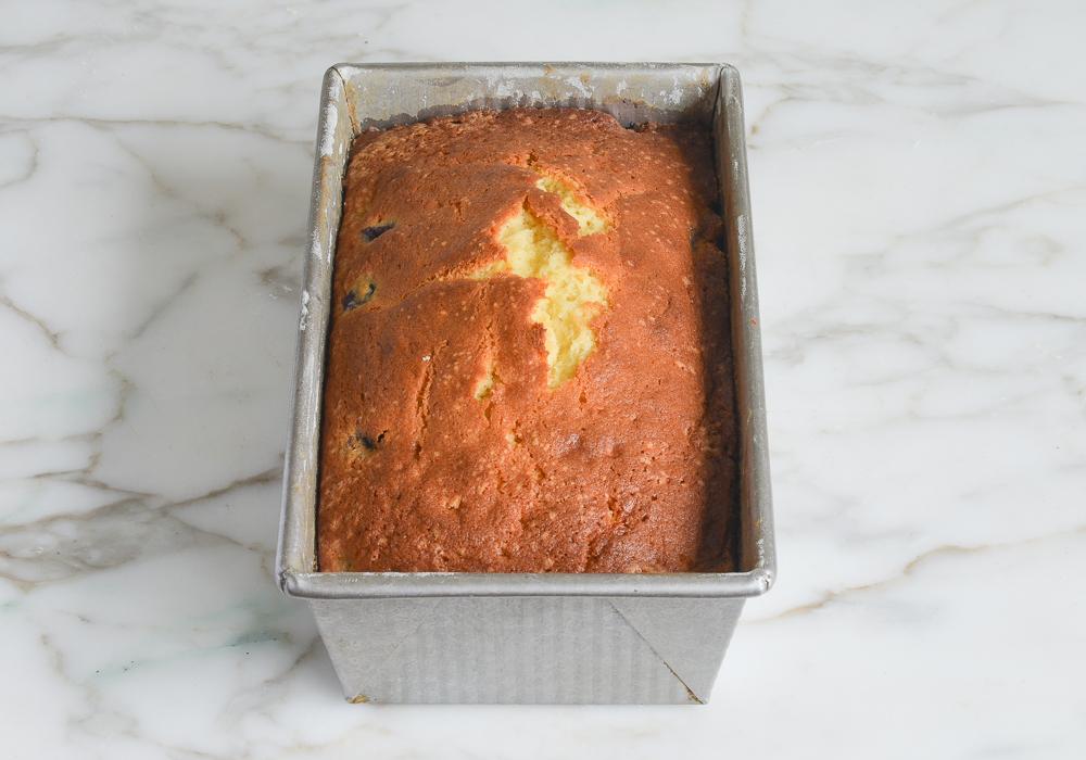 baked lemon blueberry pound cake