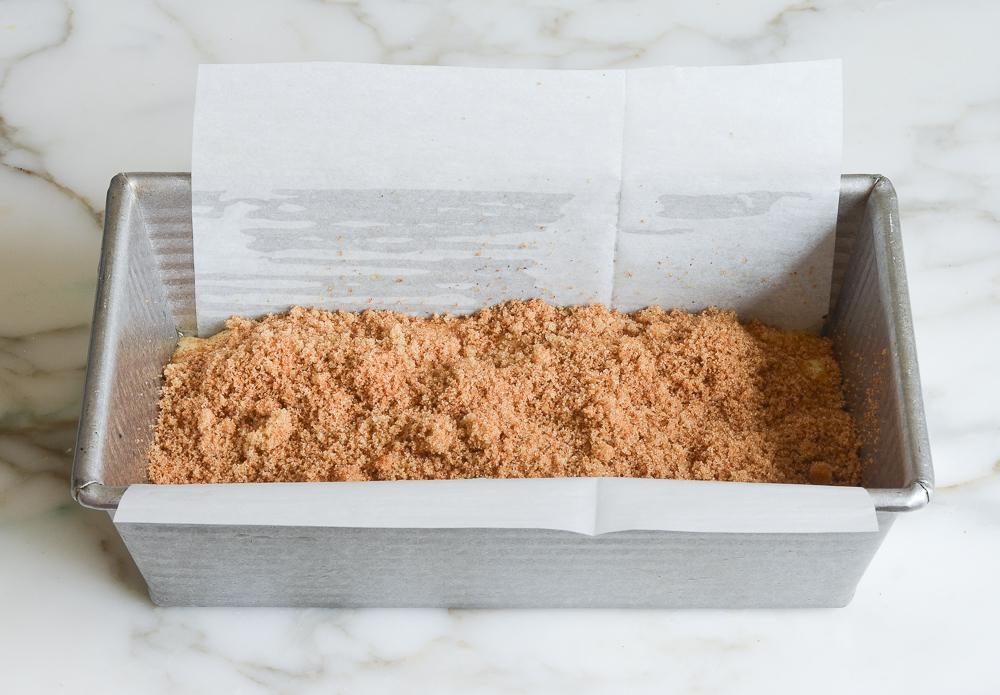 adding brown sugar cinnamon swirl mixture