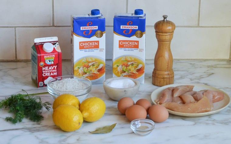 Avgolemono soup ingredients