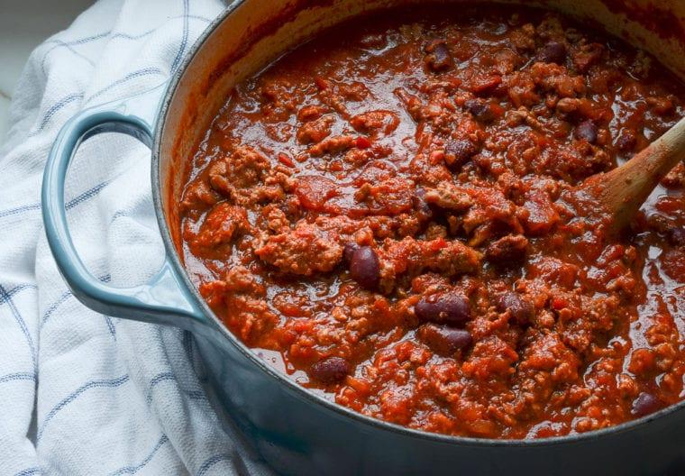 finished turkey chili