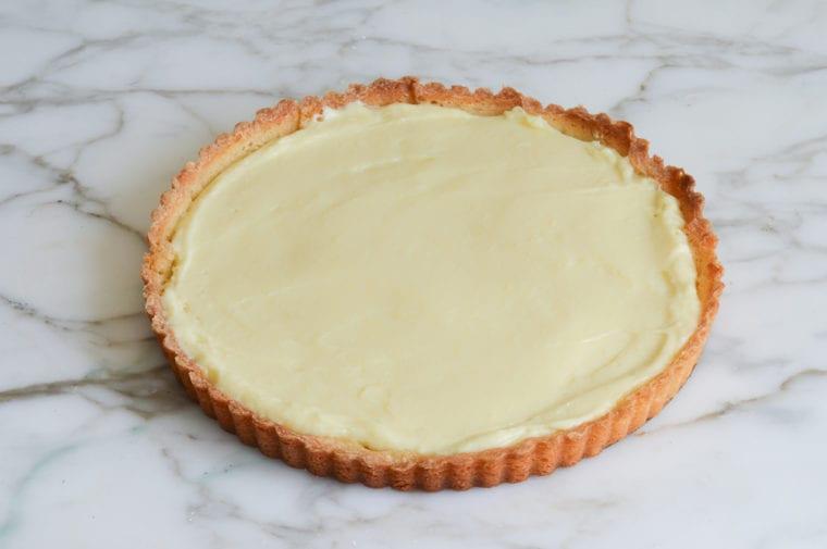 pastry cream in tart shell