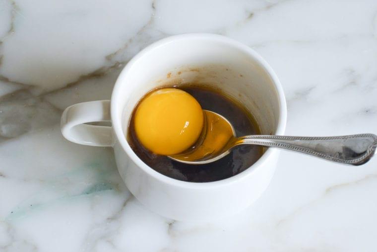 adding egg yolk
