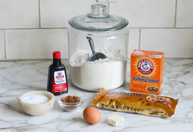 cookie in a mug ingredients