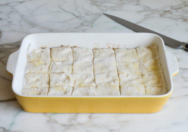 sliced baklava