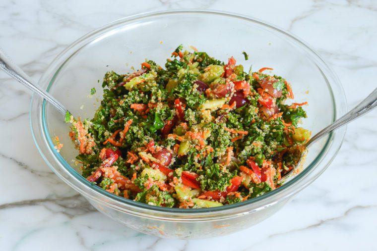 tossed quinoa salad