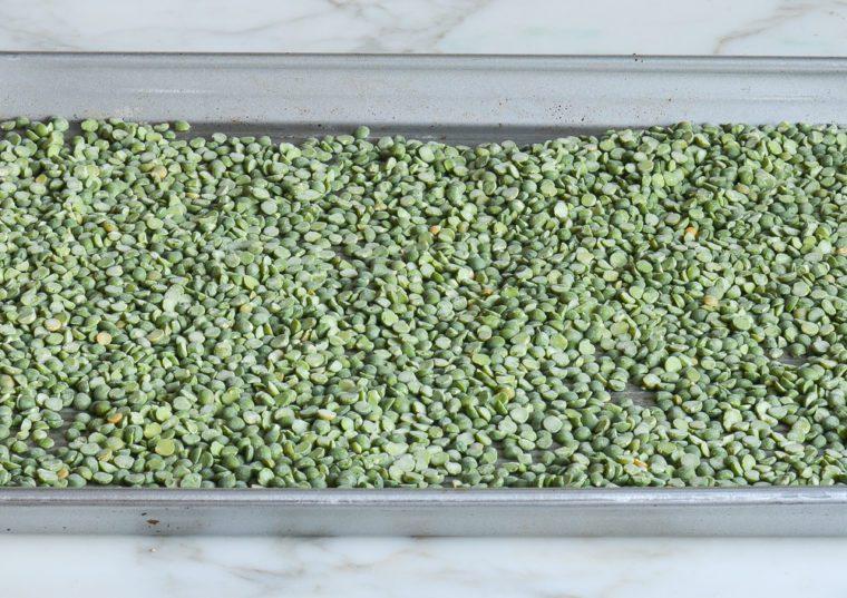 picking through the split peas